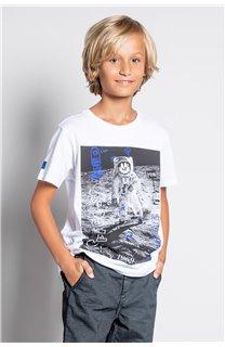 T-Shirt T-SHIRT INVADER Garçon W20157B (58087) - DEELUXE
