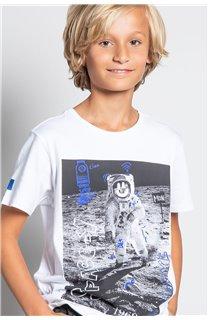 T-Shirt T-SHIRT INVADER Garçon W20157B (58089) - DEELUXE