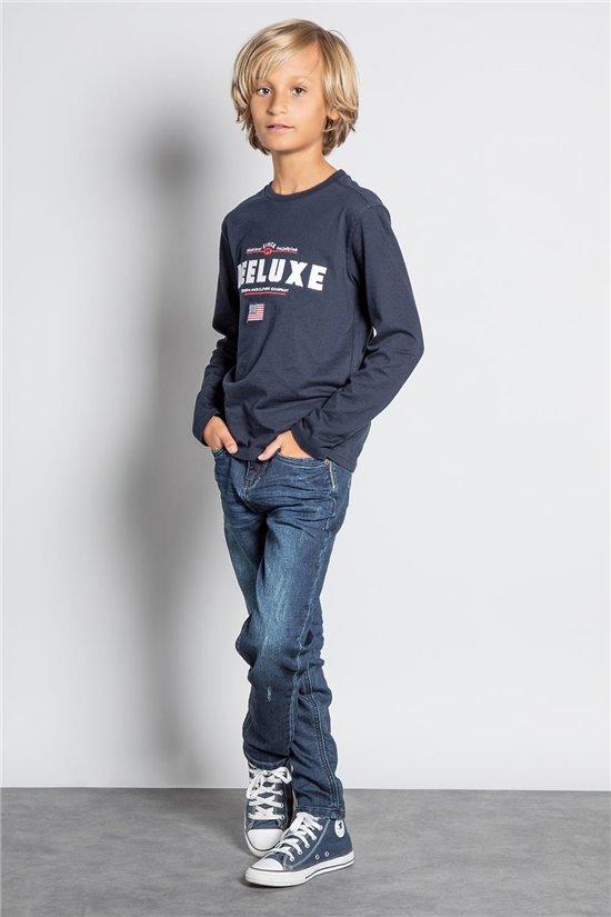 T-Shirt T-SHIRT BURLIN Garçon W20135B (58110) - DEELUXE