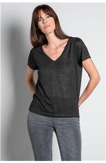 T-Shirt T-SHIRT ETHANY Femme W20109W (58213) - DEELUXE