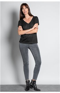 T-Shirt T-SHIRT ETHANY Femme W20109W (58214) - DEELUXE