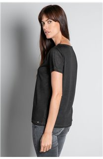 T-Shirt T-SHIRT ETHANY Femme W20109W (58216) - DEELUXE