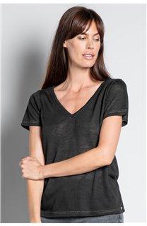 T-Shirt T-SHIRT ETHANY Femme W20109W (58217) - DEELUXE