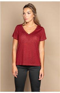 T-Shirt T-SHIRT ETHANY Femme W20109W (58218) - DEELUXE