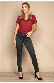 T-Shirt T-SHIRT ETHANY Femme W20109W (58219) - DEELUXE