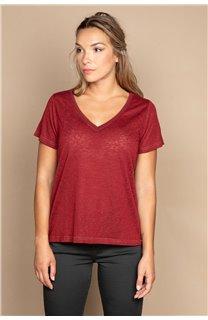 T-Shirt T-SHIRT ETHANY Femme W20109W (58220) - DEELUXE