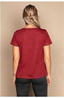 T-Shirt T-SHIRT ETHANY Femme W20109W (58221) - DEELUXE