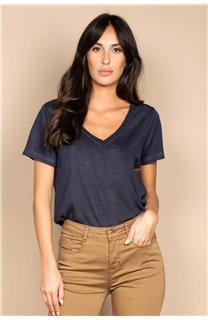 T-Shirt T-SHIRT ETHANY Femme W20109W (58223) - DEELUXE
