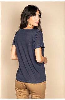 T-Shirt T-SHIRT ETHANY Femme W20109W (58226) - DEELUXE