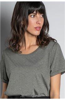 T-Shirt T-SHIRT RUBY Femme W20111W (58237) - DEELUXE