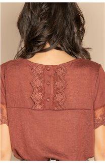 T-Shirt T-SHIRT DIVINE Femme W20122W (58398) - DEELUXE