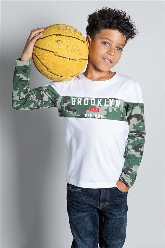 T-Shirt T-SHIRT BROOK Garçon W20132B (58629) - DEELUXE