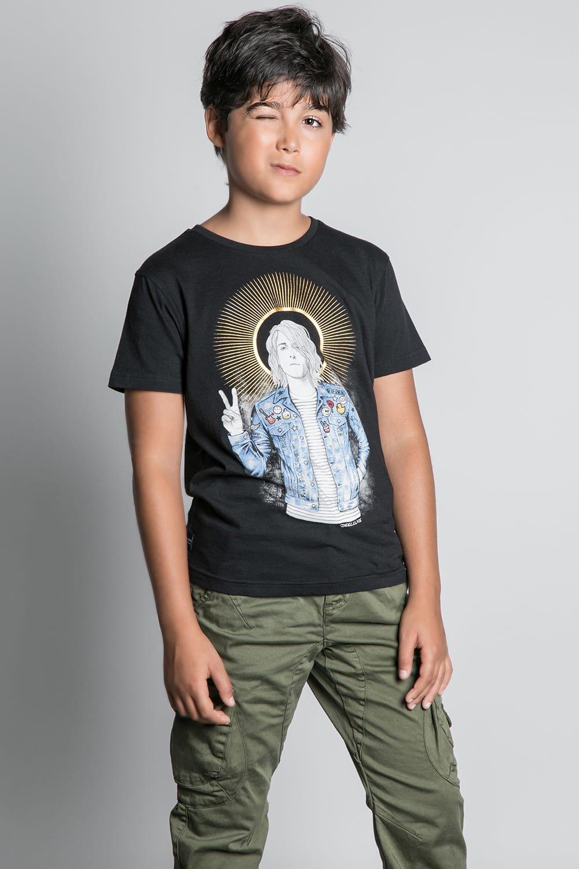 T-Shirt T-SHIRT NEVERMIND Garçon W20183B (58668) - DEELUXE