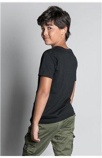 T-Shirt T-SHIRT NEVERMIND Garçon W20183B (58671) - DEELUXE
