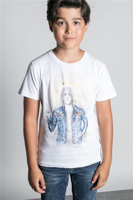 T-Shirt T-SHIRT NEVERMIND Garçon W20183B (58673) - DEELUXE