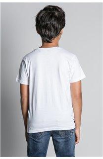 T-Shirt T-SHIRT NEVERMIND Garçon W20183B (58681) - DEELUXE