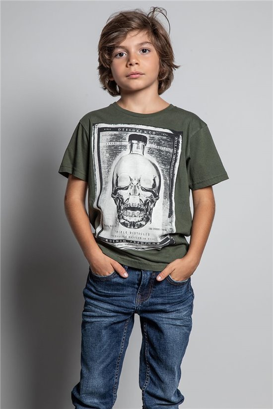 T-Shirt T-SHIRT CRYSTAL Garçon W20184B (58693) - DEELUXE