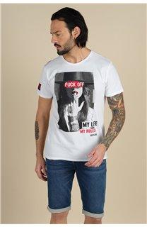 T-Shirt T-Shirt TASTY Homme S21149M (59402) - DEELUXE