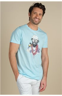 T-Shirt T-Shirt ALOHA Homme S21155M (59442) - DEELUXE