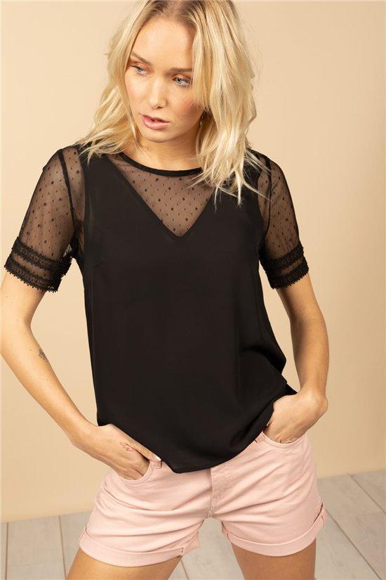 T-Shirt T-Shirt VICKY Femme S21105W (60030) - DEELUXE
