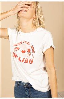 T-Shirt T-Shirt FEELGOOD Femme S21143W (60069) - DEELUXE