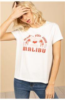 T-Shirt T-Shirt FEELGOOD Femme S21143W (60071) - DEELUXE