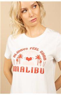 T-Shirt T-Shirt FEELGOOD Femme S21143W (60073) - DEELUXE