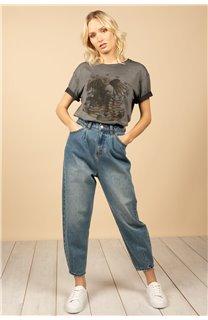 T-Shirt T-Shirt BIRD Femme S21157W (60095) - DEELUXE
