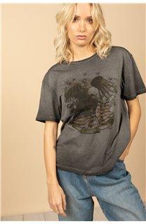 T-Shirt T-Shirt BIRD Femme S21157W (60096) - DEELUXE