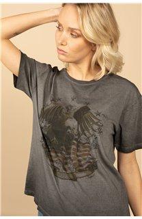 T-Shirt T-Shirt BIRD Femme S21157W (60098) - DEELUXE