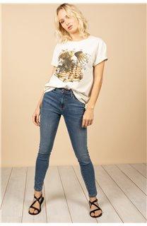 T-Shirt T-Shirt BIRD Femme S21157W (60100) - DEELUXE