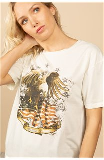 T-Shirt T-Shirt BIRD Femme S21157W (60103) - DEELUXE