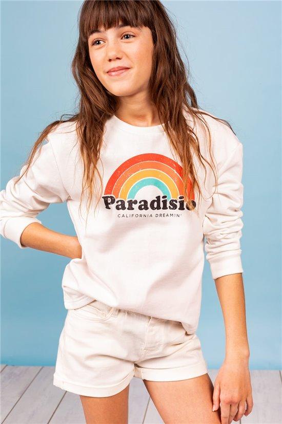 Sweat Sweat PARADISIO Fille S21503G (60605) - DEELUXE