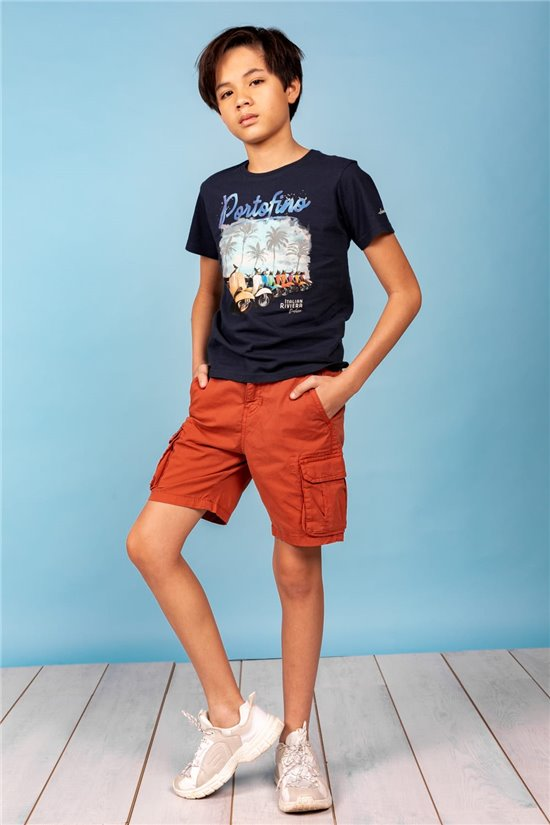 T-Shirt T-Shirt PORTOFINO Garçon S21130B (60715) - DEELUXE