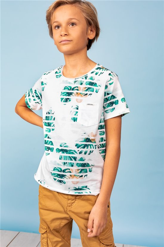T-Shirt T-Shirt ZONIA Garçon S21158B (60737) - DEELUXE