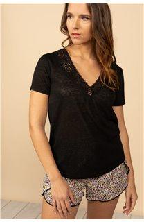 T-Shirt T-Shirt HAYDEN Femme S21104W (60797) - DEELUXE