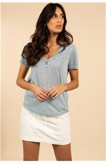 T-Shirt T-Shirt HAYDEN Femme S21104W (60802) - DEELUXE