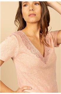 T-Shirt T-Shirt HAYDEN Femme S21104W (60809) - DEELUXE