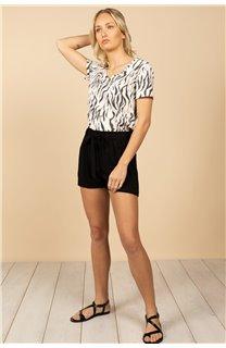 T-Shirt T-Shirt TIA Femme S21107W (60811) - DEELUXE