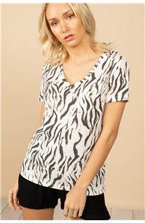 T-Shirt T-Shirt TIA Femme S21107W (60812) - DEELUXE