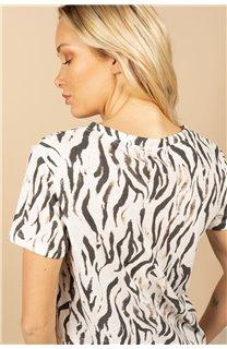 T-Shirt T-Shirt TIA Femme S21107W (60813) - DEELUXE