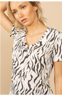 T-Shirt T-Shirt TIA Femme S21107W (60814) - DEELUXE