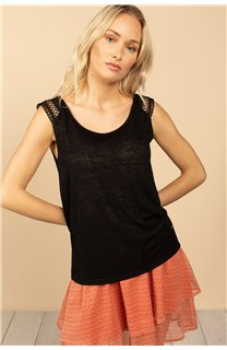 T-Shirt Top SALLY Femme S21162W (60916) - DEELUXE