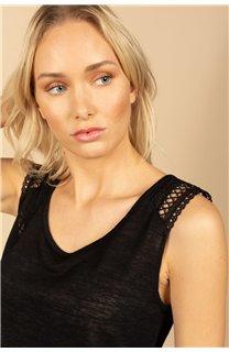 T-Shirt Top SALLY Femme S21162W (60918) - DEELUXE