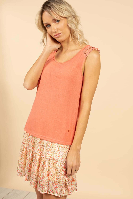 T-Shirt Top SALLY Femme S21162W (60919) - DEELUXE