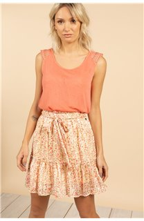 T-Shirt Top SALLY Femme S21162W (60920) - DEELUXE