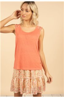 T-Shirt Top SALLY Femme S21162W (60921) - DEELUXE