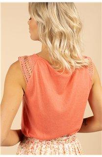 T-Shirt Top SALLY Femme S21162W (60922) - DEELUXE