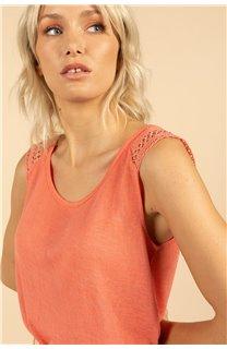 T-Shirt Top SALLY Femme S21162W (60923) - DEELUXE