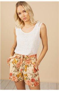 T-Shirt Top SALLY Femme S21162W (60924) - DEELUXE